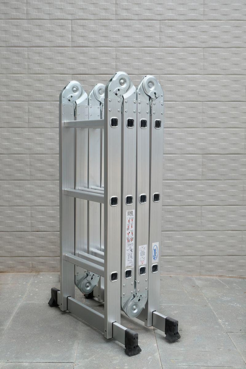 Thang Nhôm Gấp Khúc Đa Năng 4 Đoạn Kagami KT-37M (3,7m) Chân Thẳng