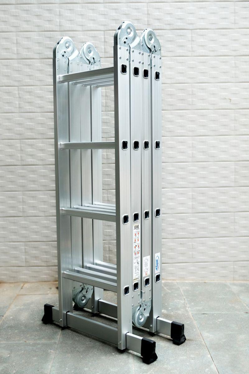 Thang Nhôm Gấp Khúc Đa Năng 4 Đoạn Kagami KT-37M (3,7m) Chân Thẳng - copy